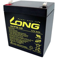 Long Batteria al piombo 12 V 5 Ah Piombo-AGM (L x A x P) 90 x 107 x 70 mm Spina piatta 6,35 mm Bassa
