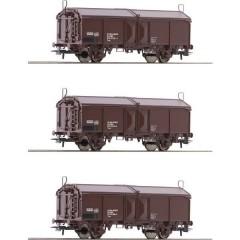 Roco Kit di 3 vagoni tettuccio apribile H0 dellEBB