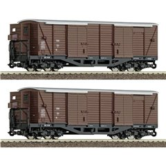 Roco Kit di 2 vagoni merci coperti H0e dellEBB