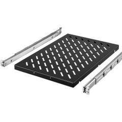 Rittal 19 pollici Ripiano porta apparecchi per armadio rack 1 HE guide di montaggio variabili Adatto per