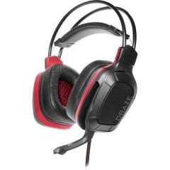 SpeedLink DRAZE Cuffia Headset per Gaming Jack 3,5 mm Filo Cuffia Over Ear Nero/Rosso