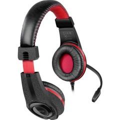 SpeedLink LEGATOS Cuffia Headset per Gaming Jack 3,5 mm Filo Cuffia Over Ear Nero, Rosso