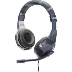 SpeedLink RAIDOR Cuffia Headset per Gaming Jack 3,5 mm Filo Cuffia Over Ear Blu Mimetico
