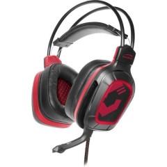 SpeedLink DRAZE Cuffia Headset per Gaming 2x 3.5 Jack (Cuffia/Mic.) Filo Cuffia Over Ear Nero/Rosso