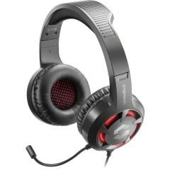 SpeedLink CASAD Cuffia Headset per Gaming 2x 3.5 Jack (Cuffia/Mic.), USB Filo Cuffia Over Ear Nero