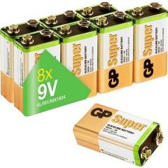 GP Batteries GP1604A-2LB8 Batteria da 9 V Alcalina/manganese 9 V 8 pz.