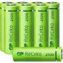 GP Batteries ReCyko+ HR06 Batteria ricaricabile Stilo (AA) NiMH 2100 mAh 1.2 V 8 pz.