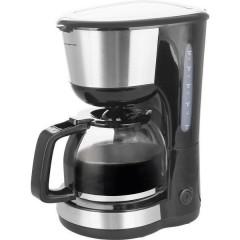 EMERIO Macchina per il caffè Nero, Argento Capacità tazze=12 Caraffa in vetro, Funzione mantenimento calore