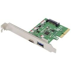 Digitus 2 Porte Scheda controller USB 3.1 USB-A, USB-C™, USB 3.2 (Gen 2), USB, USB 2.0, USB 3.2 Gen 1 (USB