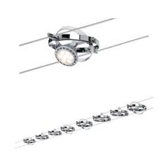 Paulmann Cardan Sistema di illuminazione completo su cavo GU5.3 80 W Cromo, Cromo (opaco)