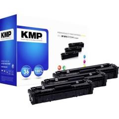 KMP H-T215VX Toner Imballo multiplo sostituisce HP HP 201X (CF401X, CF403X, CF402X) Ciano, magenta, giallo Compatibile