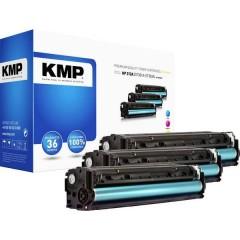 KMP H-T189CMY Toner Imballo multiplo sostituisce HP HP 312A (CF381A, CF383A, CF382A) Ciano, magenta, giallo Compatibile