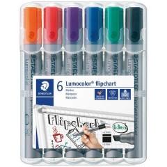 Staedtler Marcatore per lavagna a fogli mobili 2 - 5 mm Nero, Blu, Rosso, Verde, Arancione, Viola 6 pz.