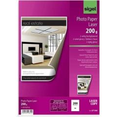 Sigel Carta fotografica DIN A4 200 g/m² 200 Foglio Entrambi i lati sono stampabili, Super lucida, Ottimizzato per