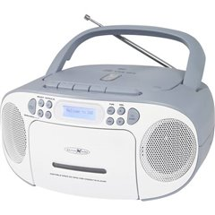 Reflexion Radio CD DAB+, FM, DAB AUX, CD, DAB+, Cassette, FM, USB Bianco, Blu