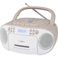 Reflexion Radio CD DAB+, DAB, FM AUX, CD, DAB+, Cassette, FM, USB Bianco, Rosa
