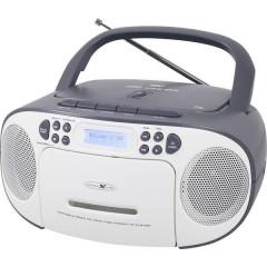 Reflexion Radio CD DAB+, DAB, FM AUX, CD, DAB+, Cassette, FM, USB Bianco, Grigio