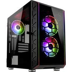 Kolink Micro-Tower PC Case da gioco, Contenitore Nero