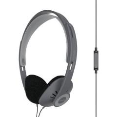 KOSS KPH30iK HiFi On Ear cuffia auricolare Cuffia On Ear headset con microfono, regolazione del volume Nero