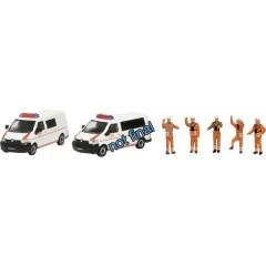 Schuco H0 Volkswagen Kit da 2 DB Emergency VW T5 con personaggi
