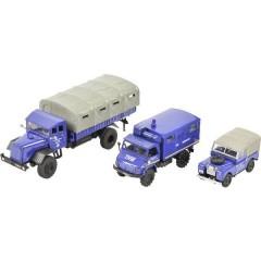 Schuco H0 Land Rover, Mercedes Benz Kit da 3 pz. THW, Land Rover, Unimog 404, MB LG 315