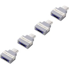 Renkforce Blocco porta USB Kit da 4 Argento, Grigio