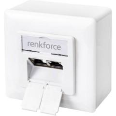 Renkforce Presa di rete Da parete CAT 6 Bianco puro