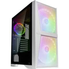 Raijintek Midi-Tower PC Case da gioco, Contenitore Bianco