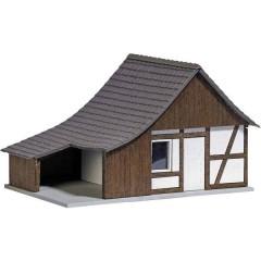 Busch Capannone a graticcio con costruzione in legno H0