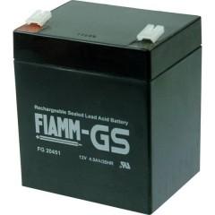 Fiamm PB-12-4,5-4,8 Batteria al piombo 12 V 4.5 Ah Piombo-AGM (L x A x P) 90 x 107 x 70 mm Spina piatta 4,8 mm