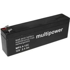 multipower PB-12-2,4-4,8 Batteria al piombo 12 V 2.4 Ah Piombo-AGM (L x A x P) 178 x 66 x 34.5 mm Spina piatta