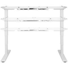 Digitus Telaio del tavolo per lavoro in piedi o seduti (L x A x P) 1000 x 700 x 620 cm Bianco