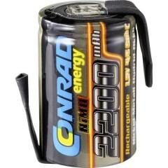 Conrad energy Batteria ricaricabile a cella singola NiMH 4/5 Sub-C 1.2 V 2200 mAh con linguette a saldare