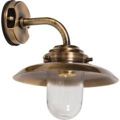 Lichterlebnisse 4561 BRASS ANTIQUE Lampada da parete per esterno E27 Ottone antico