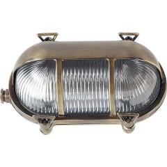 Lichterlebnisse 435 BRASS ANTIQUE Lampada da parete per esterno E27 Ottone antico, Trasparente, Trasparente