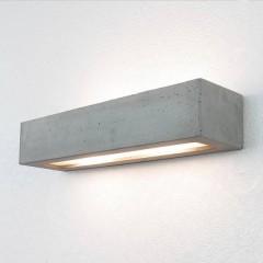 Lichterlebnisse Lampada da parete per esterno E27 Grigio cemento