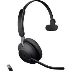 Jabra Evolve2 65 monaural Cuffie Bluetooth, USB Senza filo Cuffia Over Ear Nero