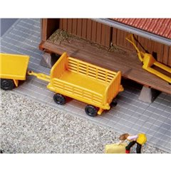Faller Vagone per piattaforma H0, arancione, 2 pz Modello pronto, già assemblato