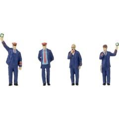 Faller Set di personaggi H0 con effetto sonoro personale ferroviario e fischio di pecora