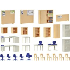 Kibri Kit decorazione per mobili da ufficio H0 Modello pronto, già assemblato